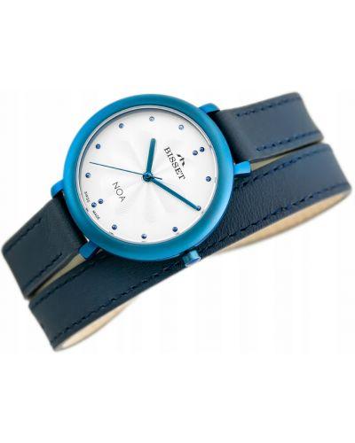 Niebieski klasyczny zegarek srebrny Bisset