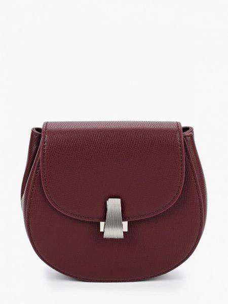 Красная поясная сумка с помпоном из натуральной кожи Marco Bonne
