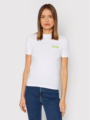 T-shirt - biała Calvin Klein Jeans