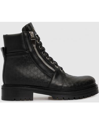 Кожаные черные кожаные ботинки Balmain