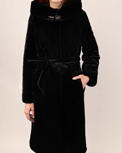 Пальто из овчины - черное Simakhov