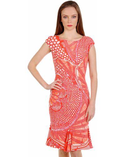 Платье весеннее красный Roberto Cavalli