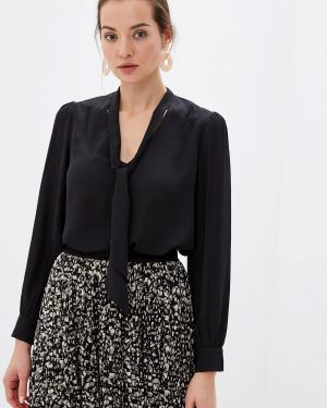 Блузка с бантом черная Sweewe