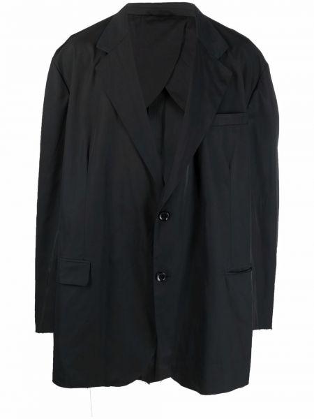 Czarna marynarka bawełniana z długimi rękawami Raf Simons