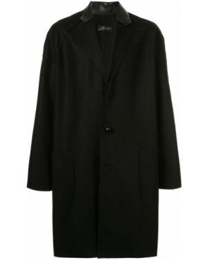Классическое черное шерстяное длинное пальто на пуговицах Zambesi