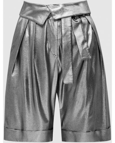 Серебряные шорты Balmain