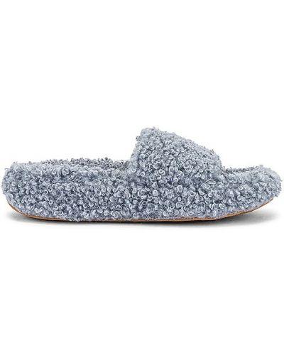 Кожаные тапочки - синие Jeffrey Campbell