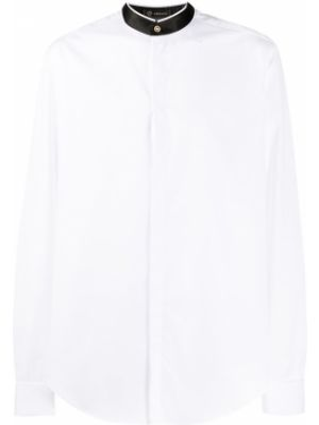 Koszula z długim rękawem jedwab długa Versace