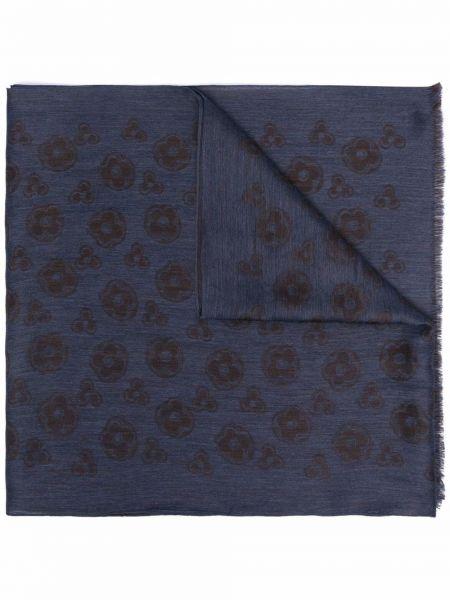Niebieski szalik wełniany Lardini