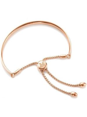 Розовый золотой браслет на пуговицах Monica Vinader