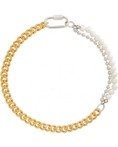 Бальное ожерелье золотое с жемчугом In Gold We Trust Paris