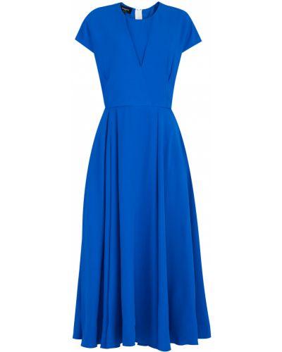 Платье миди с V-образным вырезом из вискозы Rochas