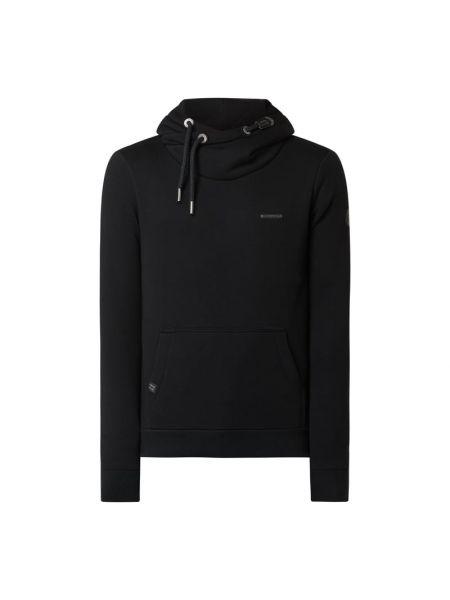 Bawełna bawełna czarny bluzka z kieszeniami Ragwear