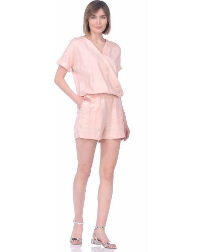 Розовый ромпер из вискозы Baon