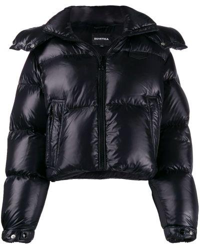 Куртка с капюшоном - черная Duvetica