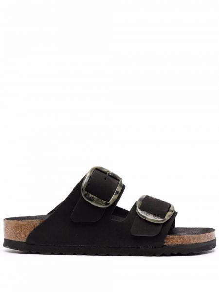 Черные кожаные сандалии Birkenstock