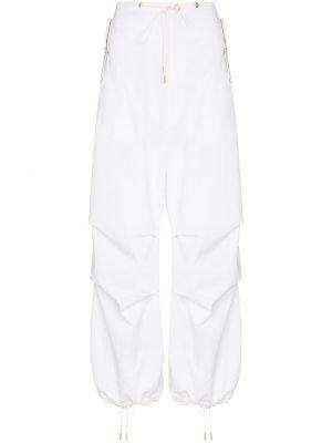 Хлопковые белые брюки с карманами Dion Lee