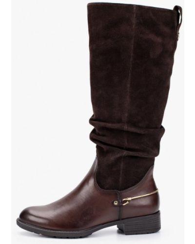 Ботинки на каблуке осенние замшевые Tamaris