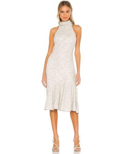 Серебряное платье с декольте с подкладкой Saylor