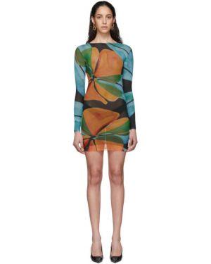 Платье макси с цветочным принтом сетчатое Louisa Ballou