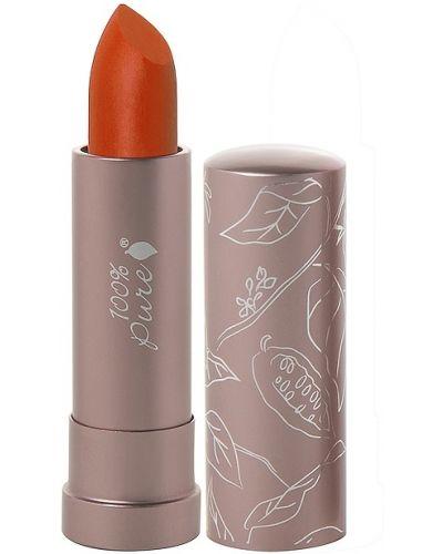 Pomarańczowy szminka do ust matowy z ozdobnym wykończeniem bezpłatne cięcie 100% Pure