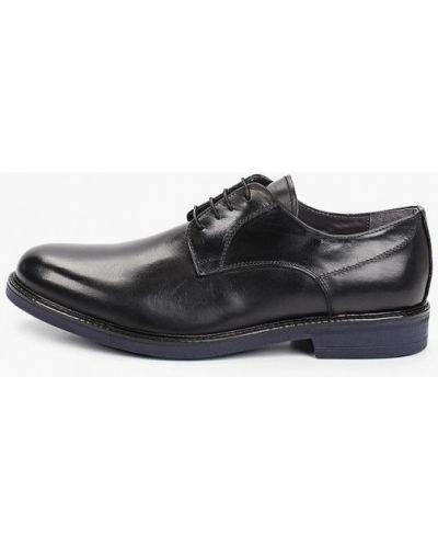 Черные кожаные туфли S.oliver