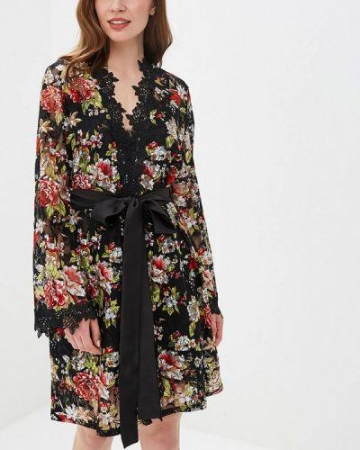 Халат ажурный черный Gepur