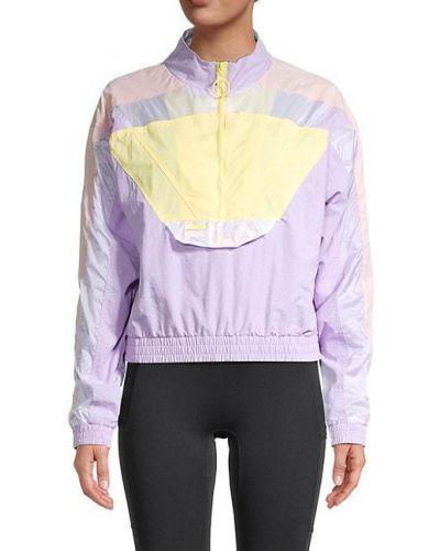Фиолетовая длинная куртка винтажная с воротником Fila