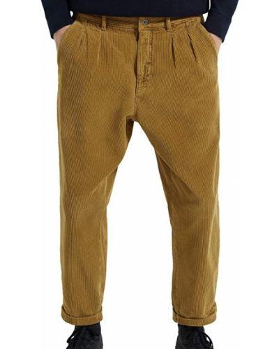 Укороченные брюки вельветовые с карманами Zara