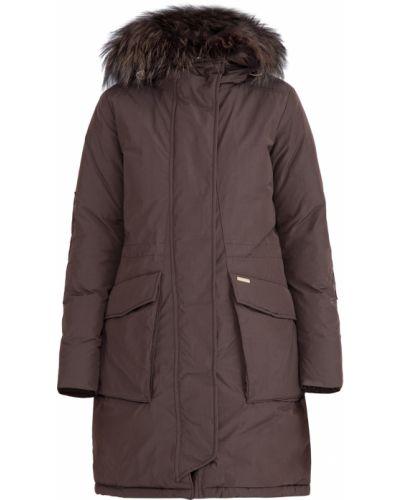 Куртка с капюшоном милитари нейлоновая Woolrich