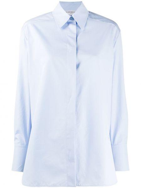 Niebieska klasyczna koszula bawełniana z długimi rękawami Givenchy