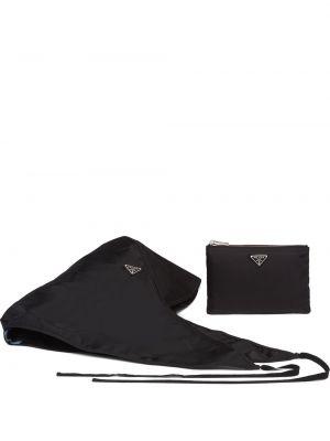Czarny kapelusz materiałowy Prada