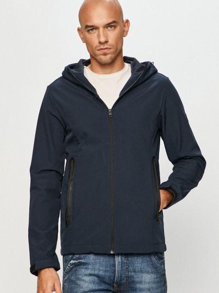 Прямая синяя куртка с капюшоном Jack & Jones