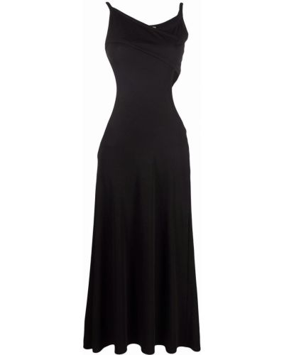 Платье миди расклешенное - черное Christopher Esber