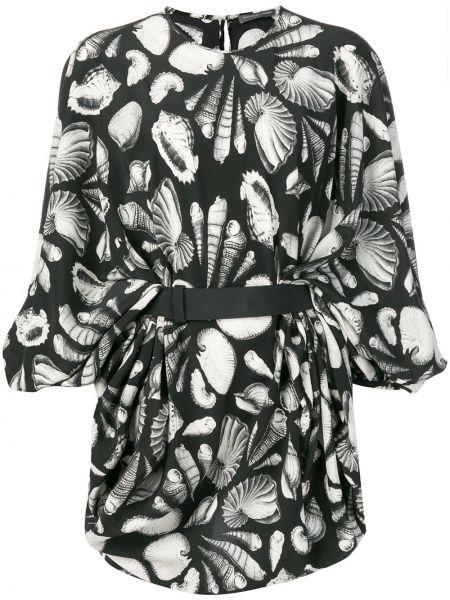 Платье на пуговицах черное Alexander Mcqueen