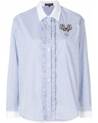 Рубашка с оборками хлопковая Markus Lupfer