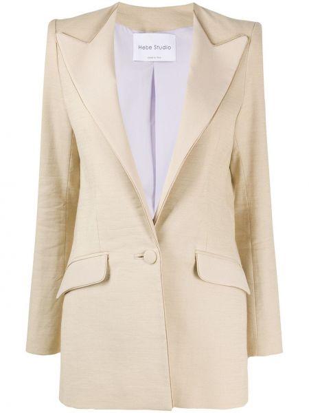 Пиджак с карманами на пуговицах с лацканами Hebe Studio