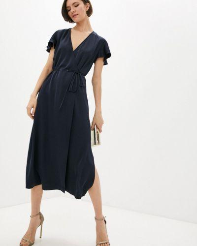 Синее платье с запахом Armani Exchange
