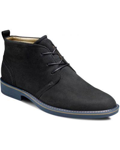 Ботинки на шнуровке осенние кожаные Ecco