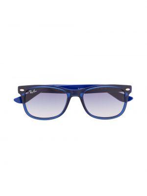 Синие солнцезащитные очки квадратные Ray Ban Junior