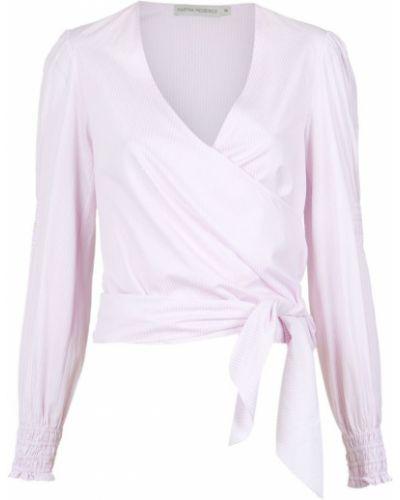 Блузка с длинным рукавом кружевная розовая Martha Medeiros