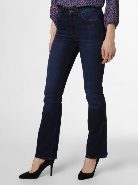 Niebieskie jeansy rozkloszowane Mavi