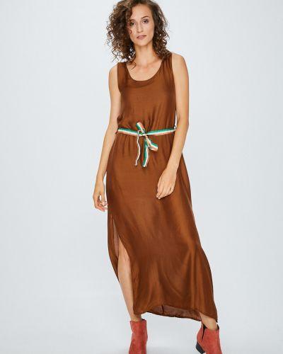 Платье макси шелковое однотонное Answear