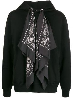 Czarna bluza z kapturem z haftem Mastermind World