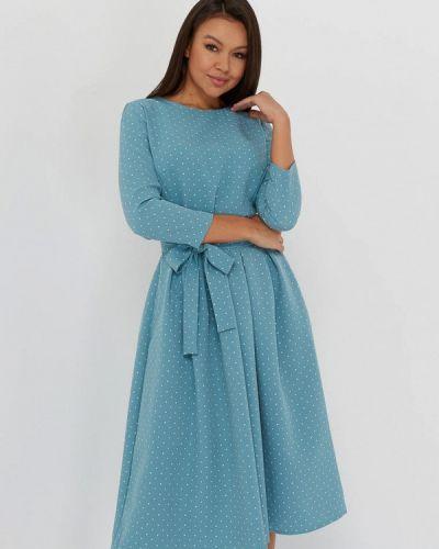 Бирюзовое повседневное платье A.karina