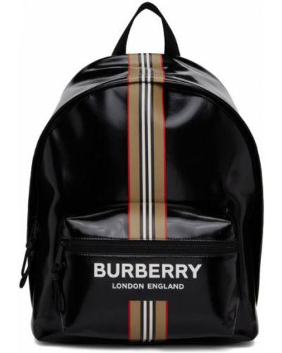 Bawełna z paskiem brezentowy biały plecak na laptopa Burberry