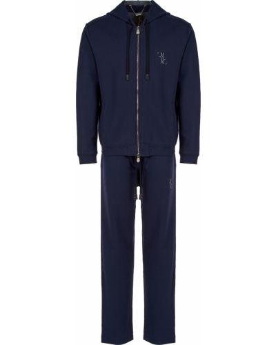 Хлопковый спортивный костюм - синий Billionaire