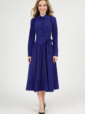 Платье рубашка - синее Marichuell