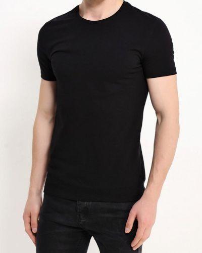 Черная футболка Oodji
