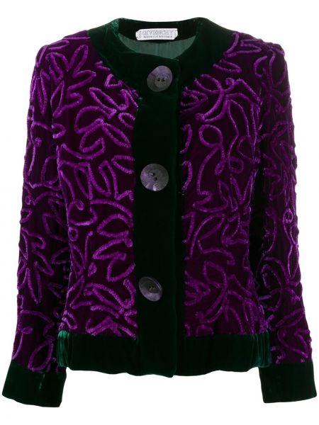 С рукавами фиолетовый пиджак винтажный на пуговицах Givenchy Pre-owned